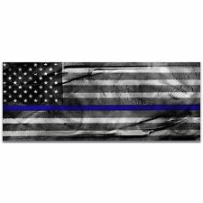 Police Officer Flag Policemen Art Blue Badge Decor Police Wall Artwork