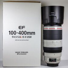 Canon 100-400mm f/4.5-5.6 L IS II USM Telephoto Zoom Lens Boxed