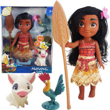 10' Disney Princess Young Moana Adventure Pua Hei Hei Action Figures Doll Toy