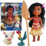 10' Disney Princess Young Moana Adventure Pua Hei Hei Action Figures Doll Toy