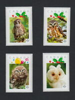 OWLS Set of 4 Personalized Picture Postage Stamps MNH Canada 2015 p15/3ow4