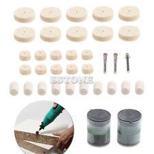 "35pcs Soft Felt Polishing Buffing Burr Wheel Kit For Rotary Tools 1/8"" Hot Sale"