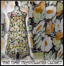 KATE MOSS TOPSHOP RARE YELLOW SUNFLOWER DITSY FLORAL SILK SUN DRESS UK 8 10 12 +