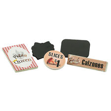 "5pc Pizza Queen Signs Set For Interchangeable Shop Fits 18"" American Girl Dolls"