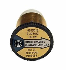 Coaxial Dynamics 820S016 Element 0 to 25KW for 2-30 MHz Bird Compatible