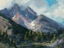 Tim Diebler Untitled Mountain Landscape Signed Framed Original Oil Painting, OBO