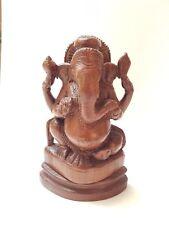 Geschnitzt Ganesha Ganesh Skulptur Statue Figur Schnitzerei Holzskulptur Indien