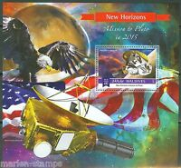 MALDIVES 2015 NEW HORIZONS MISSION TO PLUTO SOUVENIR SHEET MINT  NH