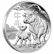 2021-P Australia Lunar Series Iii Year of the Ox Silver Proof Coin