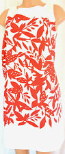 PAULE KA WHITE/RED FLORAL SLEEVELESS DRESS SIZE 44
