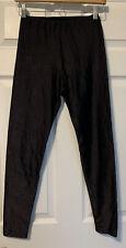 Vintage Jump! by Gilda Marx Shiny Black Leggings Dance Aerobics Jazzercise Large