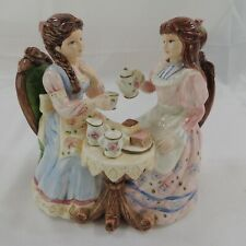 Music Box TEA FOR TWO Victorian Girls Having Tea Party by Yamaha Lefton.