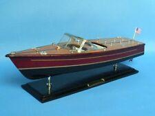"Wooden Chris Craft Dual Cockpit Model Speedboat 20"" - Fully Assembled Speed boat"
