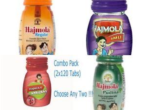 Dabur Hajmola Combo Pack(2x 120Tabs)-Choose Any Two(Plain/Imli/Pudina/Anardana)