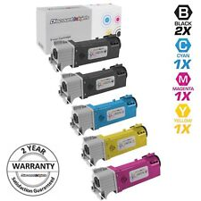 5 BLACK COLOR Toner Cartridge for Dell 2150cdn 2150cn 2155cdn 2155cn Printer NEW