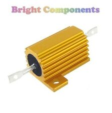25 W Aluminio revestido resistor de la energía - 100 Ohms (100r) - 1st Class Post