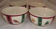 "Pfaltzgraff Snow Bear Lot of 4 Soup/Cereal Bowls 5 1/2"" Diameter 3"" Deep"