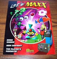 MEGATOUCH MAXX By MERIT ORIGINAL NOS VIDEO GAME MACHINE FLYER BROCHURE