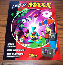 MEGATOUCH MAXX By MERIT ORIGINAL NOS VIDEO GAME MACHINE FLYER BROCHURE