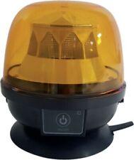Akku Rundumleuchte LED mit Magnet orange Warnleuchte 7 Leuchtmodis