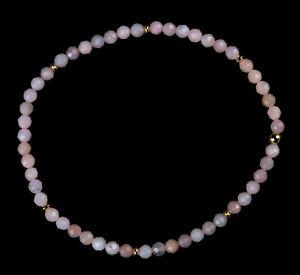 Andenopal pink Edelstein-Armband Stretch Perlenarmband D691