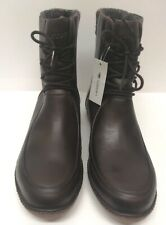 Lacoste Alyson 2 Dark Brown Leather Boots Size 8 Euro 42 Last Pair Rrp 170