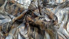 """FLOODED TIMBER MOSQUITO BLIND CAMO BUG MESH FABRIC 60""""W SHEER TRUE TIMBER BY YD"""