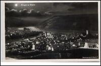 Bingen am Rhein Postkarte 1930 Panorama Ansicht Sommernacht Serie Mondschein-AK