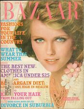 JUNE 1974 HARPERS BAZAAR old fashion magazine ( oversized - great ads )