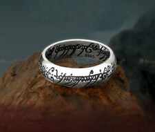 Handmade Rétro Lord of the Ring 925 Sterling Argent l'Anneau avec Chaîne TYB2