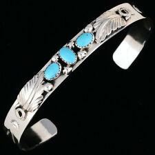 Turquoise Sterling Silver Native American Bracelet Cuff