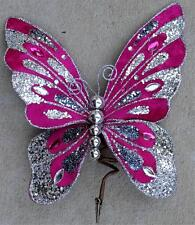 Butterfly Clip Wreath Decoration Craft Wedding Spring Wreath Floral Pink 091 New
