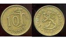 FINLANDE   10 pennia  1963  ( bis )