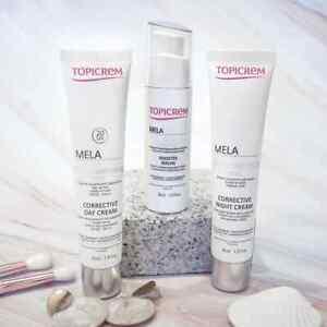 Topicrem MELA Corrective Day Cream SPF 20,Night Cream,Booster Serum