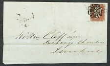 More details for 1843 1d red pl 31 bb 4m superb upright wexford mx part cover to liverpool vfu