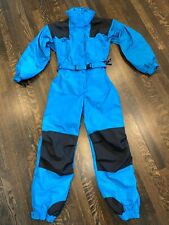 Blue COLUMBIA One Piece SNOW SUIT Ski Bib retro Snowsuit vtg Womens MEDIUM