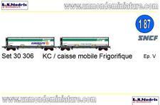Set de 2 Wagons KC Caisse Mobile Frigo Chrono froid Euroroute LSM 30306 1/87