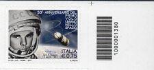 1380 CODICE A BARRE SOPRA 50 ANNIVERSARIO DEL PRIMO VOLO UMANO 0,75 ANNO 2011