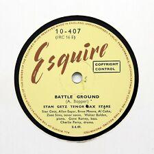 """STAN GETZ TENOR SAX STARS """"Battle Ground"""" (E+) ESQUIRE 10-407 [78 RPM]"""
