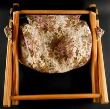 Folding Knitting Tapestry Yarn Bag Retro Wooden Legs Removable Washable