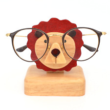 Kids Children's Wooden Animal Wood Lion Eyeglasses Holder Glasses Stand Display