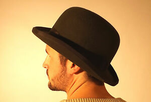 New Bowler Hat Brown English Gentleman's  Quality Wool Derby S M L XL