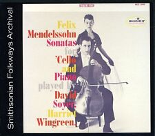 Harriet Wingreen, Da - Felix Mendelssohn Sonatas for Cello and Piano [New CD]