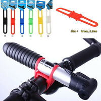 Fashion 5Pcs Cycling Bicycle Flashlight Holder Silicone Elastic Strap Bandage