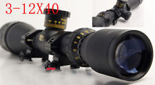.22 cal 3-12x40 Duplex Crosshair AO Rifle Scope 17HMR / 17GR Mil-Dot With Mount