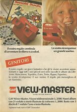 X4932 Gaf View Master - Visore tridimensionale - Pubblicità 1976 - Advertising