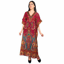 Casual Women's Long Kaftan Nightwear Dress Maxi Free Size Dresses