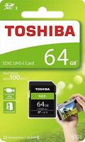 Toshiba® 64GB SDXC™ UHS-I High Speed N203 Memory Card Class 10 100MB/s