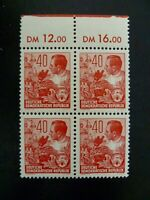 Germany GDR 1953 #167 Workers Issue Block of 4 MNH - See Description & Images