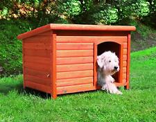 Dog House Wooden Stained Pet Raised Pen Kennel Backyard Puppy Shelter Kitty Barn